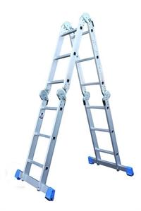 Multi vouwladder/trap met inlegbordes Alumexx